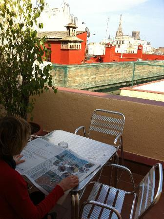 Hotel Cortes: terrazzino di una camera tripla