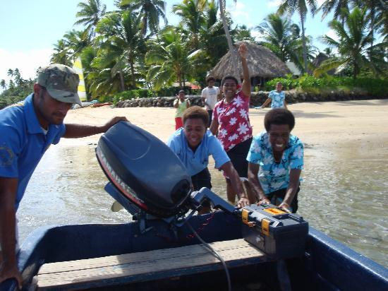 Nukubati Private Island: Moce Solate, Eta, Cathy & Henry