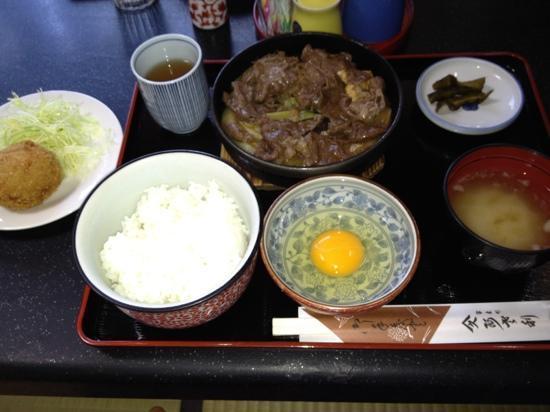 Asari Honten: ランチ   すき焼きB定食  1400円