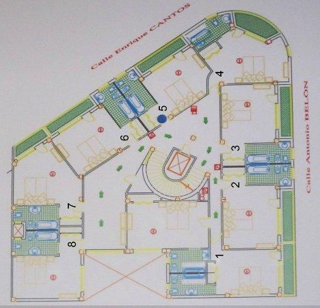 Hotel Lima Marbella: floor plan
