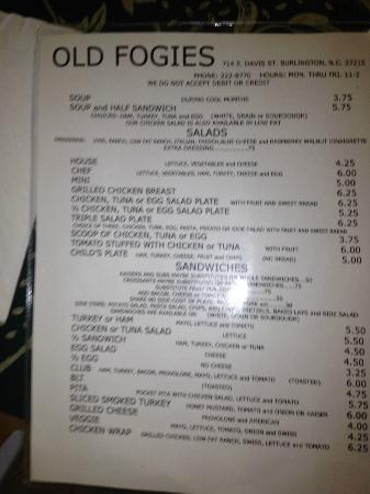 Occasions Restaurant Burlington North Carolina