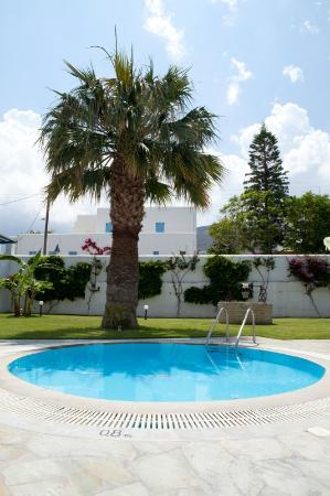 Polos Hotel: Garden and Pool area