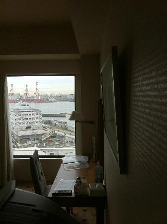 Tenpozan Hotel : 窓からは港
