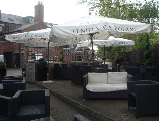 a nice shaded area picture of franco 39 s terrace bar restaurant newcastle upon tyne tripadvisor. Black Bedroom Furniture Sets. Home Design Ideas