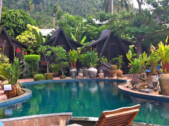 Spa Resort : A-frame och poolområde