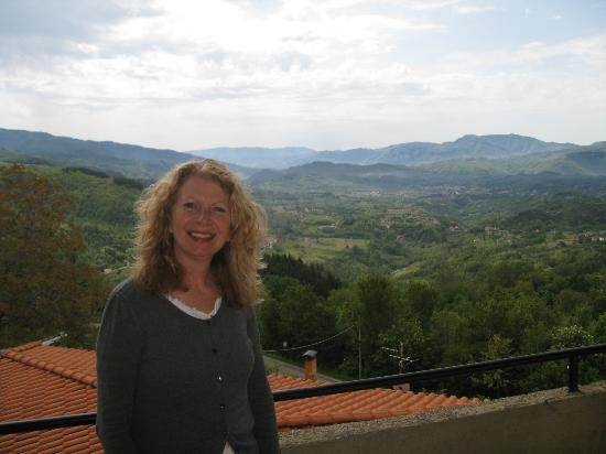 Corfino, Italy: View from our terrace