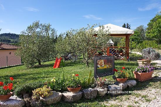 Saturnia, Italia: giardino