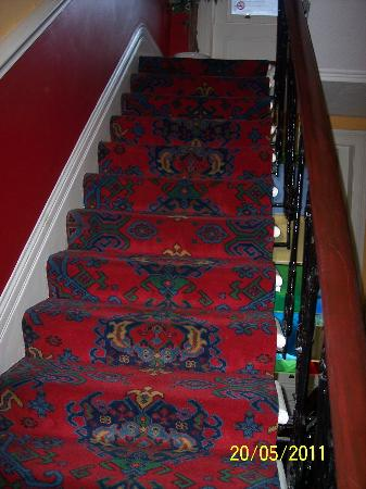 Tudor Court Hotel: The first of many stairs