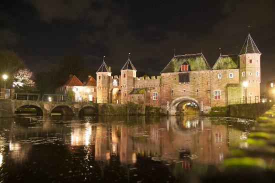 Amersfoort, The Netherlands: The Koppelpoort at night