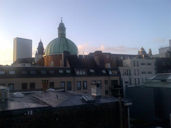 X2Brussels: View out of bathroom skylight