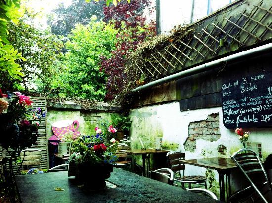 The garden of Zuivere Koffie.