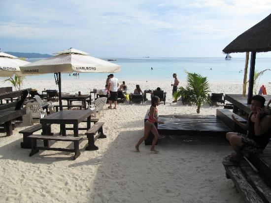 White House Beach Resort: the view from the main building... white sand and an inviting blue water.