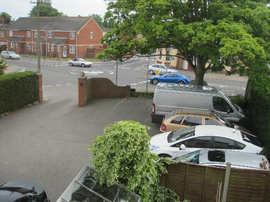Lattice Lodge: Room view showing car park and situation.