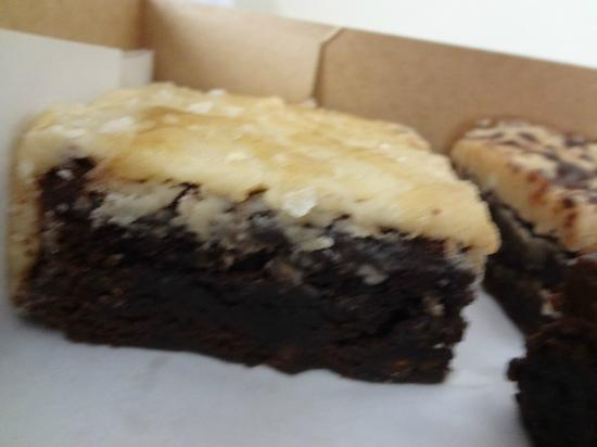 Mosswood Farm Store: Big brownie - salted caramel, I believe, something like that, mmm yum