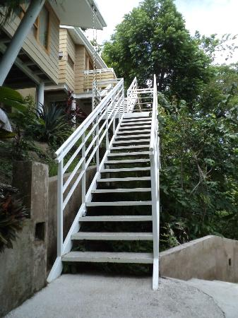 Hotel Moana: Stairs up to the suite patio