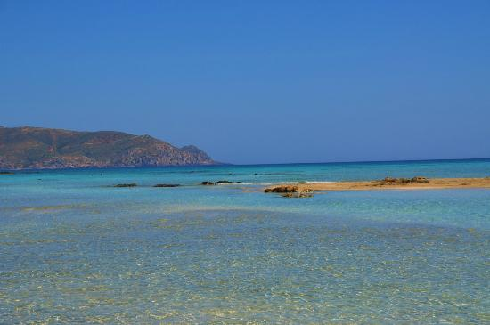 Plage d'Elafonissi  : clear then blue