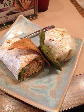 Cafe America: Marinated chicken wrap