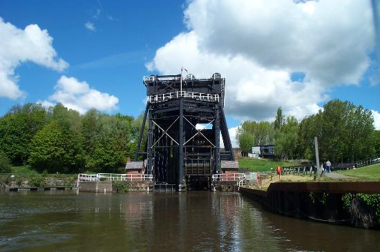 Northwich, UK: View from river Weaver