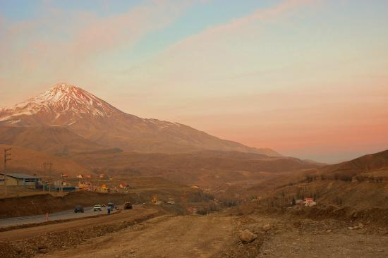 Damavand Mountain: Damavand at sunset