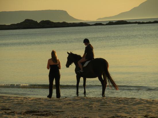 Camusdarach Beach : Dusk with Eigg in the distance