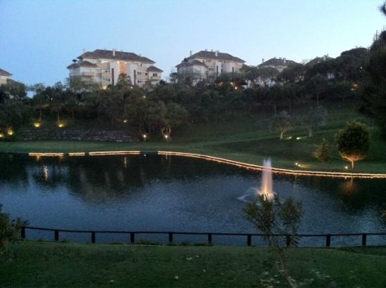 Apartamentos Greenlife Golf: Early Evening View from 1st Floor Apartment.