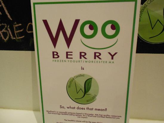 Woo Berry Frozen Yogurt & Housemade Ice Cream: Sign in Store