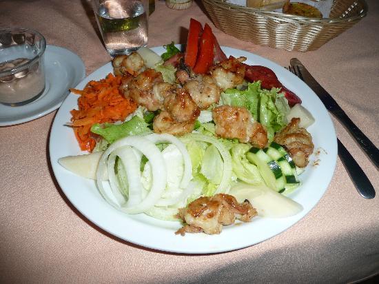 Steak House el Tobogan: Grilled Shrimp Salad