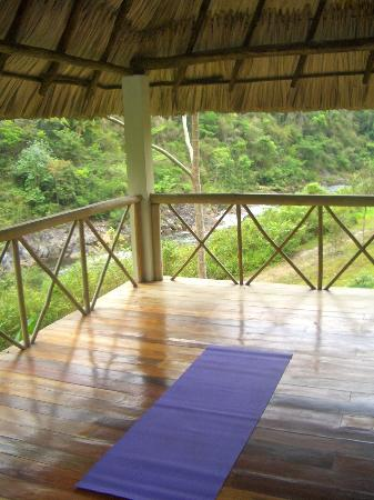 Black Rock Lodge: Yoga deck