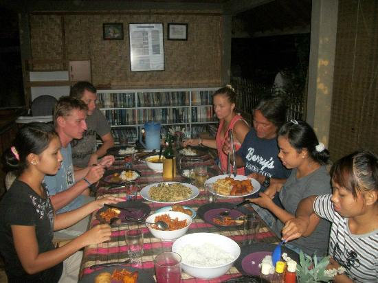 Mimpi Manis Homestay: Another feast in the dining pavillion