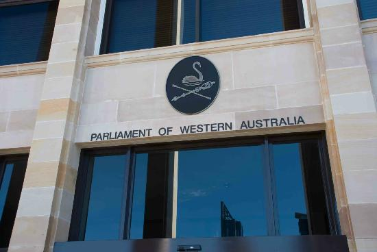 Parliament House: Entrance sign