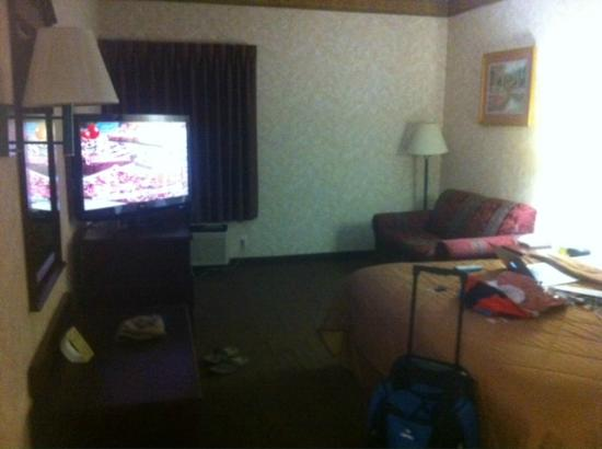 Quality Inn & Suites: PLEASE forgive the mess.  Too tired to straighten up before pic.