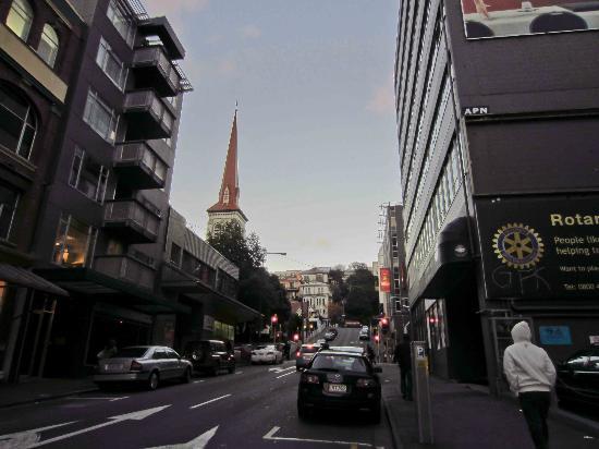 Street alongside Trinity Hotel
