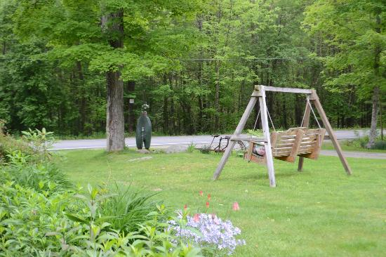 Adirondack Pines B&B and Vacation Rentals : Relax on the swing