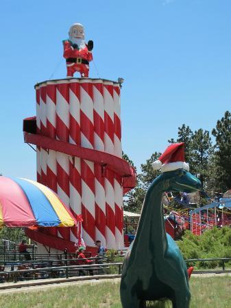 North Pole - Santa's Workshop: Santa slide and Santa dino