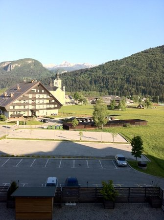 Bohinj ECO Hotel: view from 2nd floor room