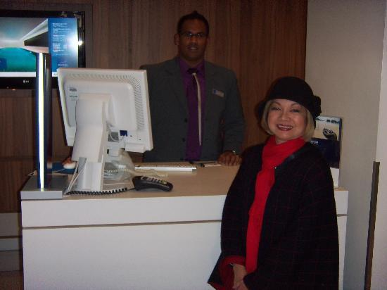 Novotel Southampton: With the friendly, efficient guy in the front desk.