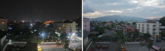 Chiangmai Smith Residence: Day VS. Night view (SW corner room)