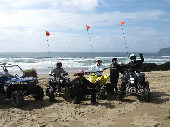 Sandlake Tsunami ATV Rental, LLC : Group picture with an amazing view