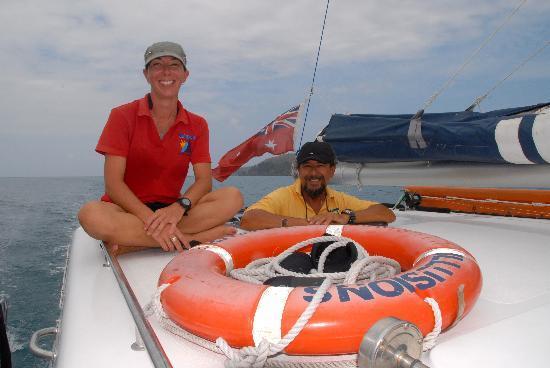Blue Pearl Bay Snorkeling Adventure: Naomi and Captain Joseph
