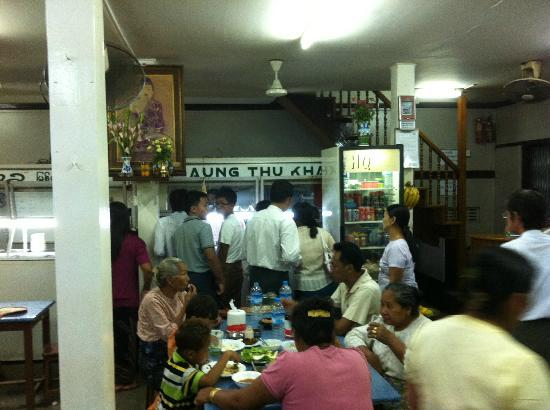 Aung Thukha: Lots of local customers.