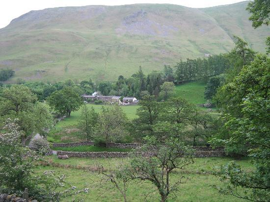 Howtown, UK: View of hotel from Hallin Fell
