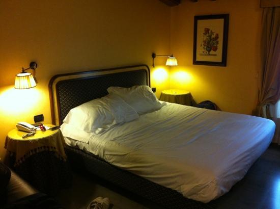 Hotel River: Glad we got a nice, cozy, big room.