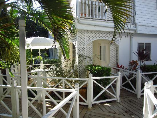 Casa Coson, terrace in front of the room