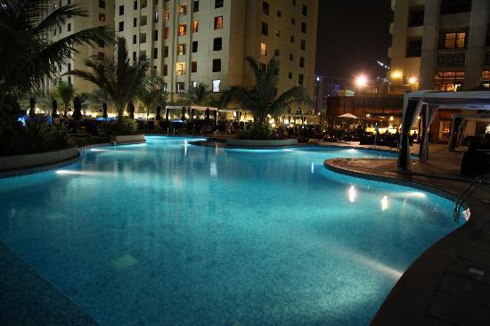 Hotel Pool At Night Picture Of Movenpick Hotel Jumeirah Beach Dubai Tripadvisor