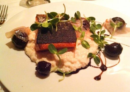 The Ashby Inn: Copper River salmon entree
