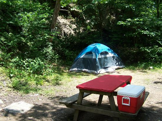 Gooney Creek Campground: Just set up the Tent!