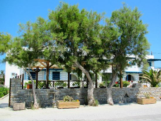 ليانا هوتل: View of the hotel from across the street at the beach