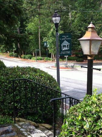 Fuquay Mineral Spring Inn and Garden : Down the Inn's steps to a sweet park, site of weekend yoga.