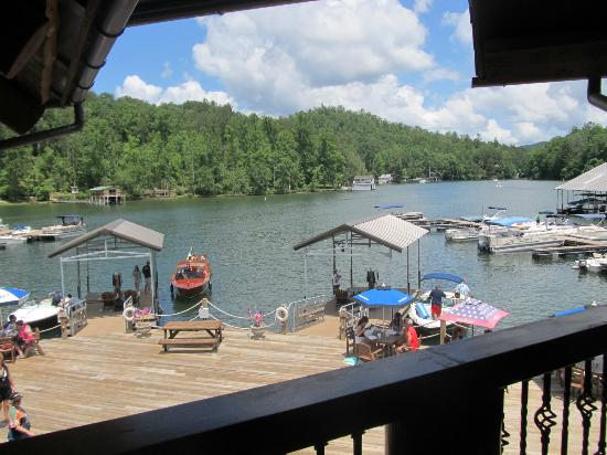 La Prade's On Lake Burton: Our view from our tabl