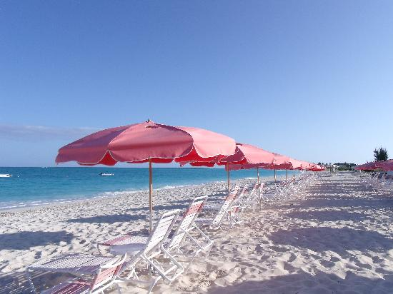 Ocean Club Resort Beach Pink Umbrellas Oc East